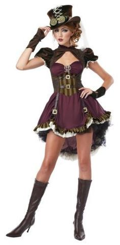 steampunk girl halloween costume adult womans large 10 12