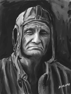 old man illustration
