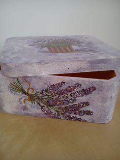 pudełko na prezent - lawenda