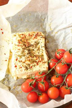 A simple and quick Oven Baked Feta Cheese Recipe - takes only 18 mins in the oven | Recipes From A Pantry