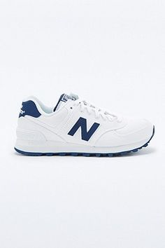 New Balance 574 White Classic Running Trainers - Urban Outfitters