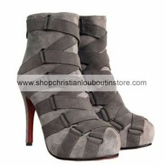 Christian Louboutin Nitoinimoi Boots Gray