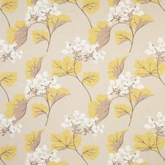 Millwood Leaf Camomile Fabric