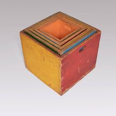 Bauhaus Children's Play Boxes Attributed to Alma Siedhoff-Buscher, circa 1925   From a unique collection of antique and modern collectibles and curiosities at https://www.1stdibs.com/furniture/more-furniture-collectibles/collectibles-curiosities/