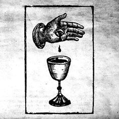 Darvaza - The Silver Chalice Occult Tattoo, Occult Art, Alchemy Tattoo, Gravure Illustration, Tattoo Illustration, Kunst Tattoos, Tattoo Drawings, Schrift Tattoos, Esoteric Art