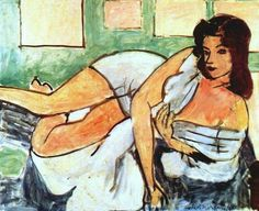 Henri Matisse (French, Fauvism, 1869-1954). 1941, Reclining Nude in Arab Robe