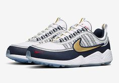 detailed look 9c10b e5766 Nike Air Zoom Spiridon Nikelab Size 10.5 Olympic White Gold Obsidian 849776-174  Chaussures Air
