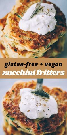 These easy, healthy Gluten-Free Vegan Zucchini Fritters are made with chickpea flour for added nutrition and depth. Packed with the perfect blend of spices, these delightful vegan fritters are beyond DELICIOUS, too!  #veganzucchinifritters #glutenfreezucchinifritters Meal Recipes, Easy Healthy Recipes, Gluten Free Zucchini Fritters, Garbanzo Bean Flour, Quick Appetizers, Savoury Dishes, Fabulous Foods, Vegetable Recipes, Vegan Gluten Free