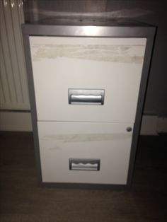 Before, wanted filing cabinet, that was a bit different, £10 from charity shop.