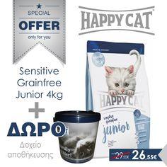 Sensitive Graifree Junior 4kg + ΔΩΡΟ δοχείο αποθήκευσης