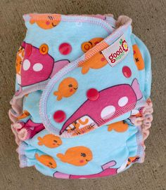 Fish Run One-Size Fitted Diaper by thegoodmama.com, via Flickr