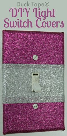 Create your own decorative Light Switch Covers. Easy DIY, all you need is a little Duck Tape.