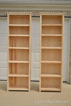 make your own wood bookshelves. So gong to do this eventually. I have 2 bookshelves over full now. Maybe make smaller ones for Jaces room now and make taller ones for my books afterward. - My Easy Woodworking Plans