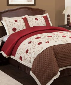 Take a look at this Red Royal Embrace Comforter Set on zulily today!