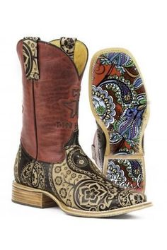 This Tin Haul Tan Paisley Rocks Low-Top Leather Cowboy Boot - Women by Tin Haul is perfect! Rock Boots, Tan Boots, Shoe Boots, Women's Shoes, Top Shoes, Ankle Boots, Cowboy Boots Women, Cowgirl Boots, Riding Boots