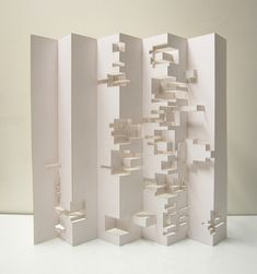 Julien Deswaef : Generative pop-up Kirigami, Origami Paper Art, Paper Crafts, Paper Cutting, Folding Architecture, Paper Structure, Paper Engineering, Arches Paper, Soap Packaging