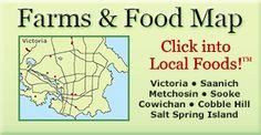 Victoria, Vancouver Island Food Map Farm Map