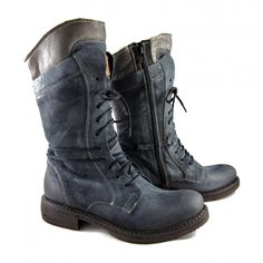 Manas  1908 Lace Up Mid Calf Boot