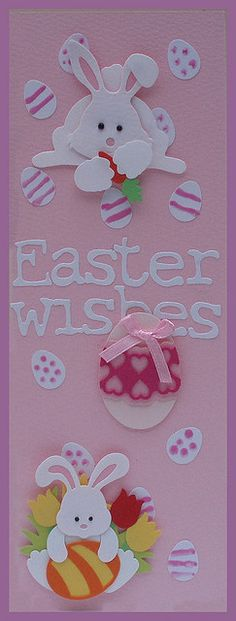 Handmade Easter card by loopy lou p, via Flickr