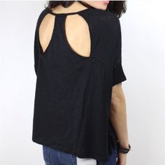 Free People crescent tee New with tags Free People cutout back crescent tee. Slouchy, boxy fit for a super cute look. Free People Tops Tees - Short Sleeve
