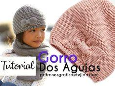Knitting Room, Knitting Stiches, Baby Hats Knitting, Knitting For Kids, Easy Knitting, Knitted Hats, Crochet Beanie, Cute Crochet, Crochet Baby