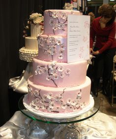Pink Wedding Cakes | pink blossom wedding cake