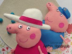 Granny Pig and Grandpa Pig  #filc #felt #fieltro #peppapig #grannypig #grandpapig