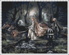 Ladies of the Night Cross Stitch Printable Needlework Pattern - DIY Crossstitch Chart, Relaxing Hobby, Instant Download PDF Design