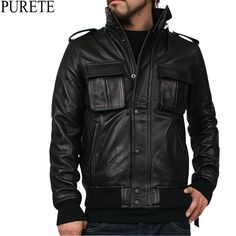 PURETE レザーM-65ジャケット