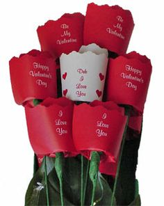"""Say """"I Love You"""" this Valentine's Day by sending our paper roses."""