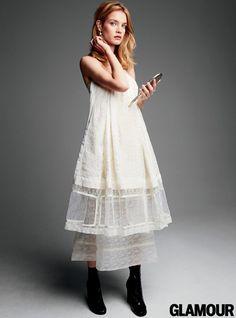 PHOTOS: Model Natalia Vodianova in Glamour, April 2015: Glamour.com
