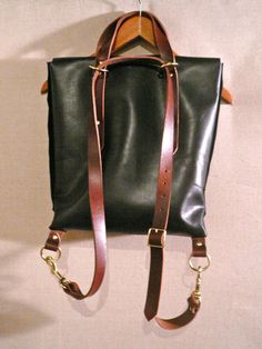 the diplomat rucksack tote by fluxproductions on Etsy, $390.00