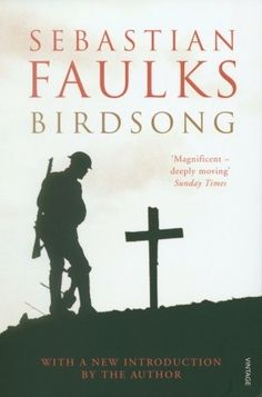 Birdsong by Sabastian Faulks. Stephen Wraysford, a young Englishman, arrives in Amiens in northern France in 1910 to stay with the Azaire family, and falls in love with unhappily married Isabelle. But, with the world on the brink of war, the relationship falters, and Stephen volunteers to fight on the Western Front. His love for Isabelle forever engraved on his heart, he experiences the unprecedented horrors of that conflict.