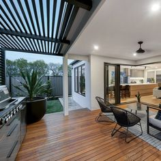 (notitle) The Yarra - Alfresco Outdoor Dining Design By Porter Davis.Outdoor alfresco dining is central to the design philosophy of Porter Davis. Seen here as part of The Yarra floorplan. Entertain your friends and enjoy Pergola Designs, Patio Design, House Design, Garden Design, Outdoor Living Rooms, Outdoor Dining, Outdoor Areas, Alfresco Designs, Alfresco Ideas