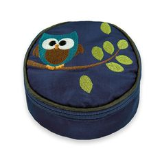 Travel Jewelry Case - Embroidered Owl