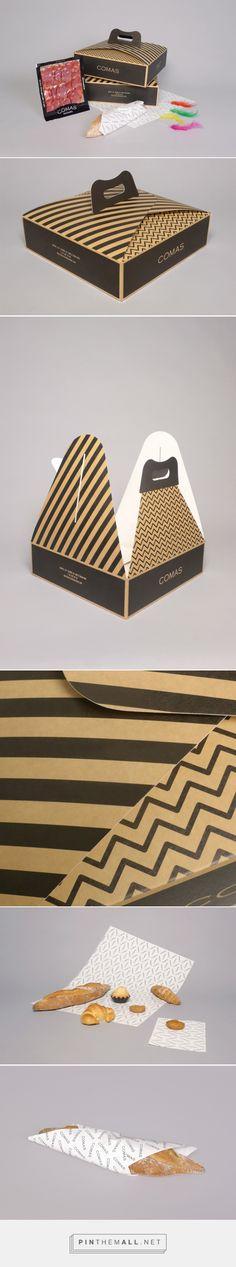 Comas Pack by oriolgayan.com #branding #packaging #bakery                                                                                                                                                                                 More
