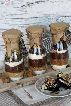 ullatrulla backt und bastelt: Geschenke aus der Küche | Backmischung im Glas für Brownies