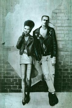 Sid & Nancy inspired monster and bride