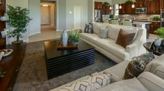 A gorgeous living room in the Belmonte Landmark Collection in Chandler, Arizona