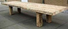 A very simple coffee table design using reclaimed barn wood.