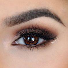 love this warm brown smokey eye ~  we ❤ this! moncheribridals.com