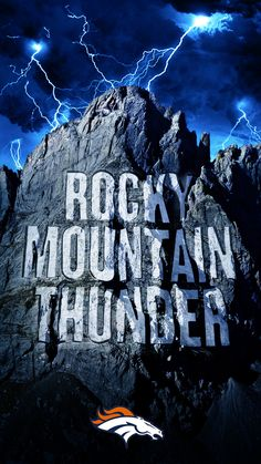 When you're cheering from 5,280ft., the Rocky Mountain Thunder is heard for miles! Get this smartphone wallpaper to show your support and watch the Denver Broncos soar to new heights this season with NFL Mobile from #Verizon. #football
