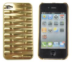 Luxury Deluxe Bullet Metllic Chrome Hard Case Back Cover For iPhone 4 4S Yellow - USD $ 9.26