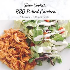 Slow Cooker Bbq, Slow Cooker Recipes, Crockpot Recipes, Chicken Recipes, Lean Protein Meals, Lean Meals, Clean Recipes, Easy Dinner Recipes, Healthy Recipes