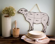 Hey, I found this really awesome Etsy listing at https://www.etsy.com/listing/165872231/decorative-lamb-for-your-kitchen-meat