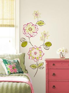 Dress Up Walls With Decals in Chic and Functional Dorm Room Decorating Ideas from HGTV