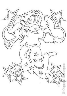 Le même ange Kirigami, Christmas Images, Christmas Art, Christmas Paper Crafts, Christmas Decorations, Angel Outline, Paper Cutting Patterns, Printable Pictures, Free Stencils