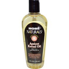 Cold-pressed Apricot Kernel Oil 100% pure with Vitamin E For sensitive skin 4 fl oz Liquid 100% pure Apricot Kernel Oil with Vitamin E from Hobe Naturals is a cold-pressed, light, highly saturated oil