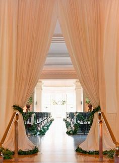 beautiful entrance to the ceremony