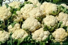 I love cauliflower. High in fiber and low in calories.